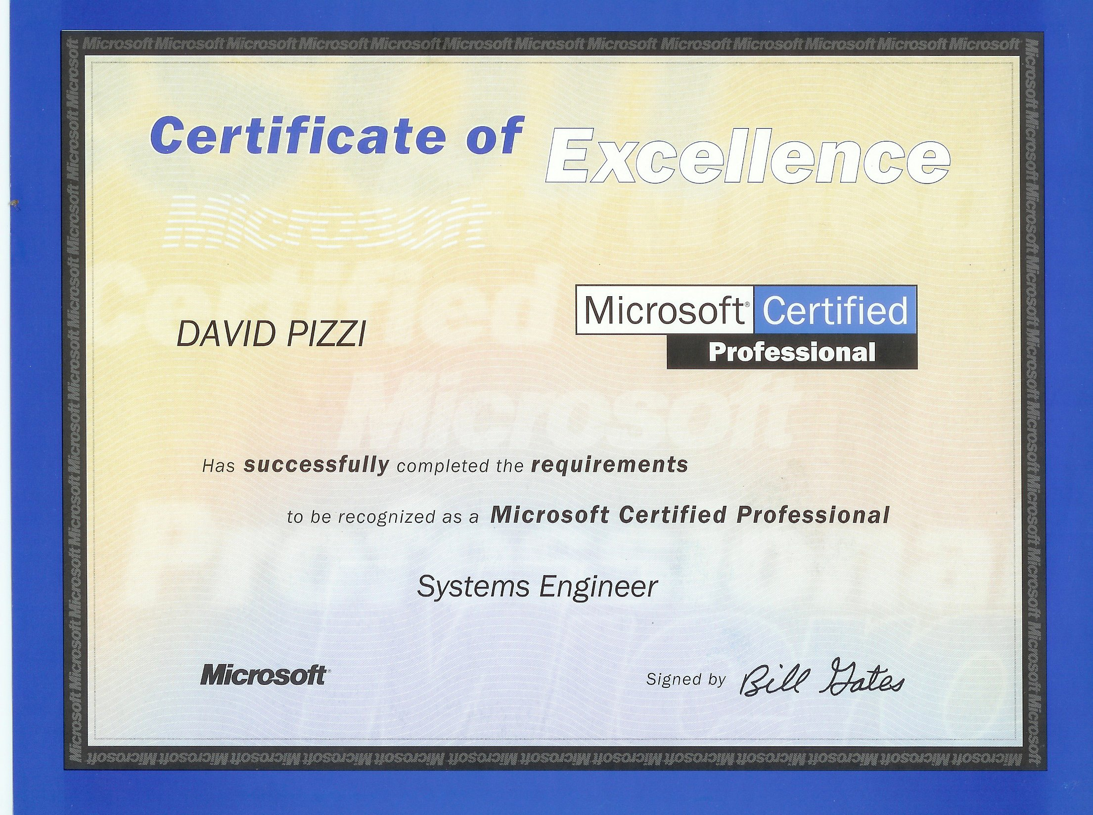 Pizzi consulting microsoft certificates 1betcityfo Images